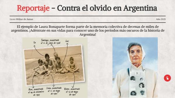 Contra el olvido en Argentina