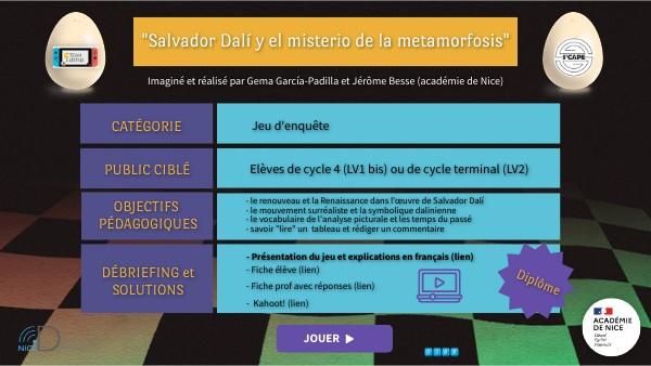"""Juego """"Salvador Dalí y el misterio de la metamorfosis"""""""