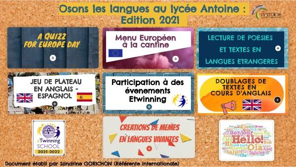 Semaine des langues au lycée Antoine
