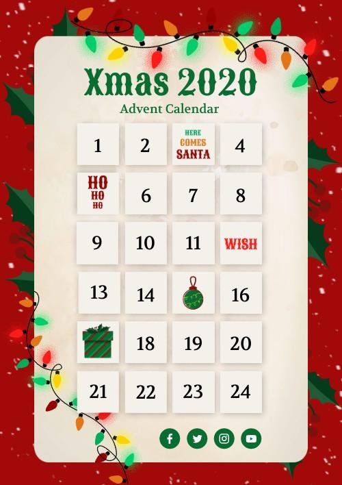 A  LLCER Xmas special advent calendar