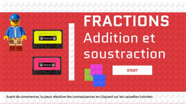 Additionner et soustraire des fractions - niveau 5è