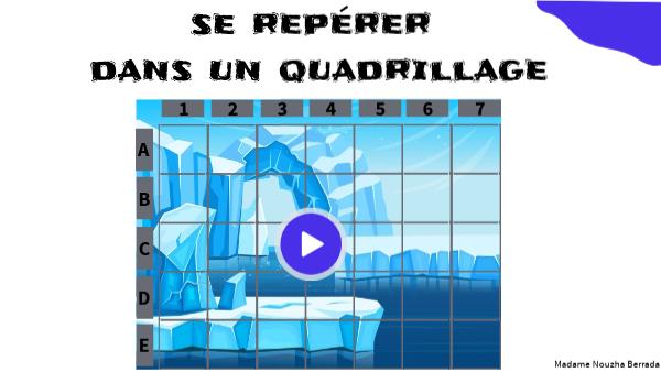 SE REPERER DANS UN QUADRILLAGE (3)- MÉLI-MÉLO LE CAMÉLÉON