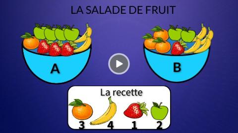 jeu la salade de fruit