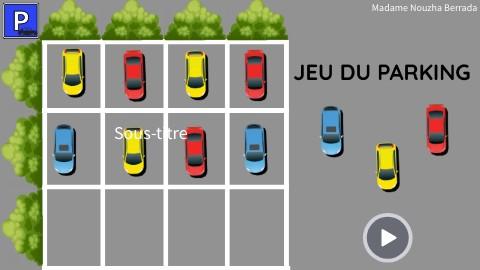 Jeu du parking - comparer des quantités -