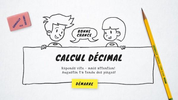 maths calcul décimal